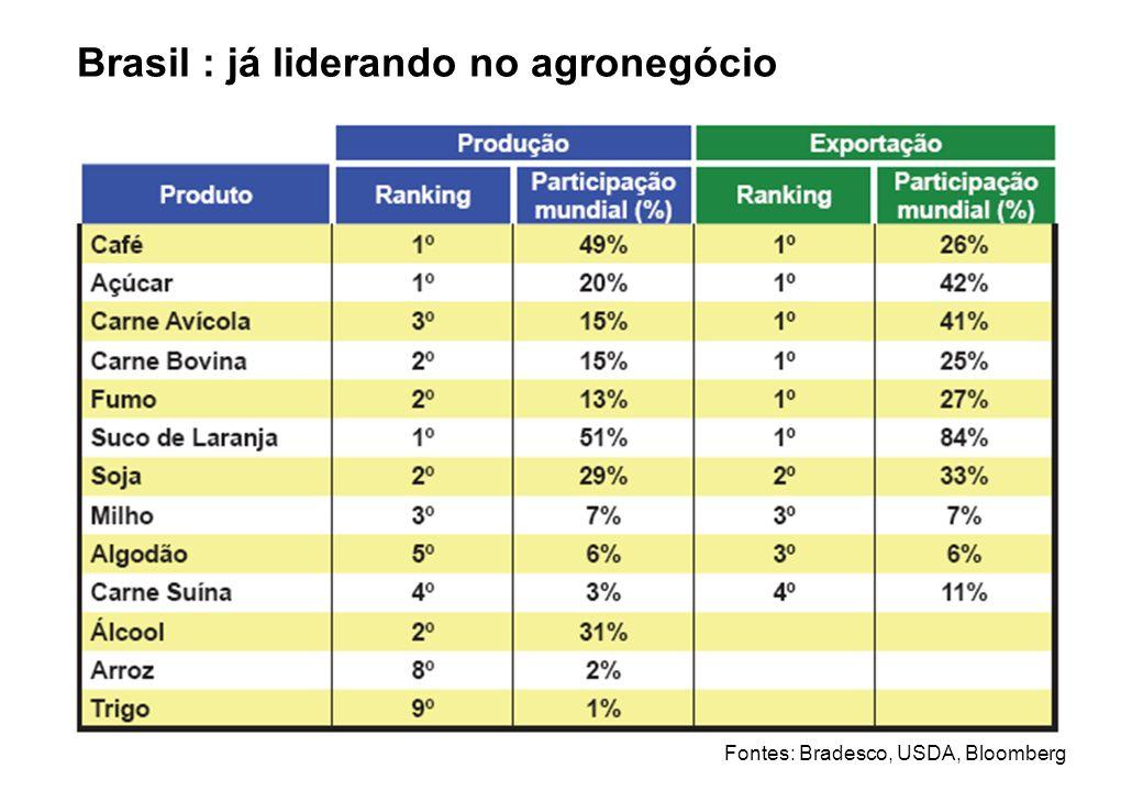 Brasil : já liderando no agronegócio