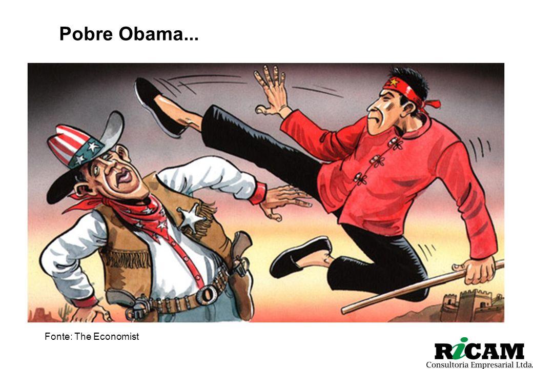 Pobre Obama... Fonte: The Economist