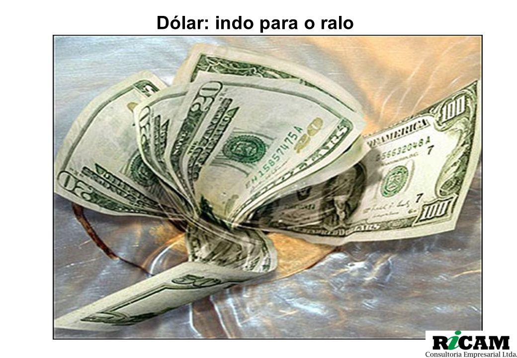 Dólar: indo para o ralo