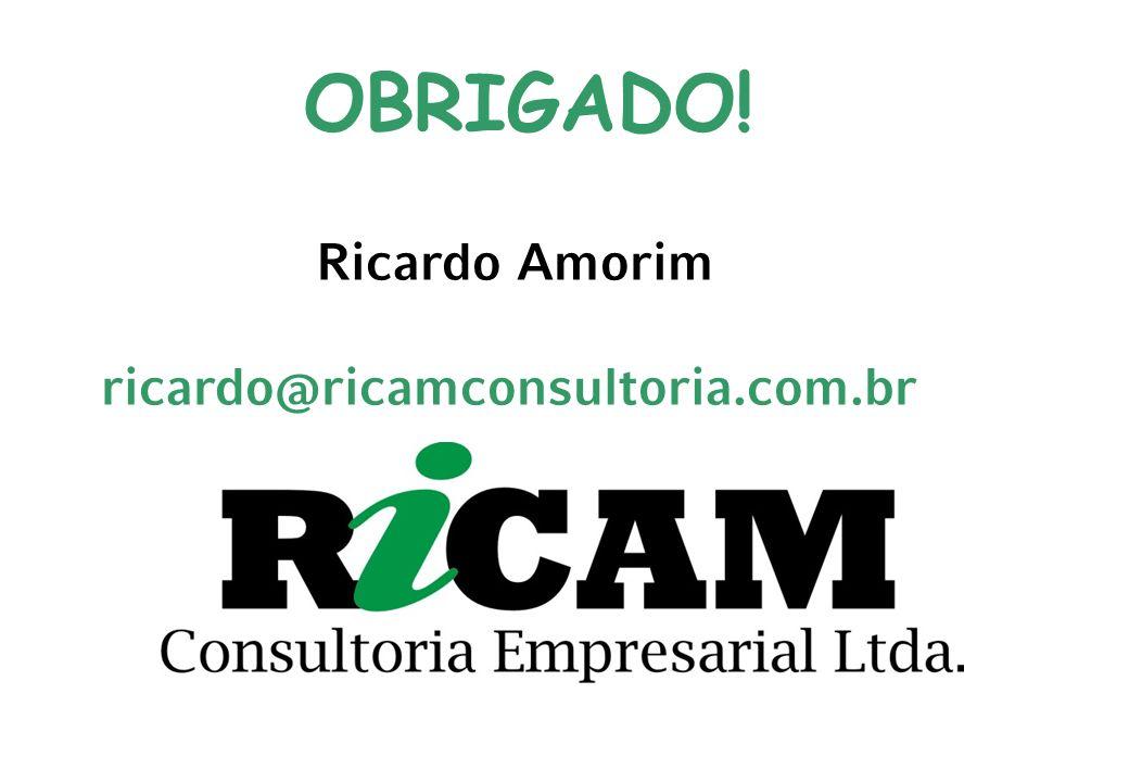 OBRIGADO! Ricardo Amorim ricardo@ricamconsultoria.com.br