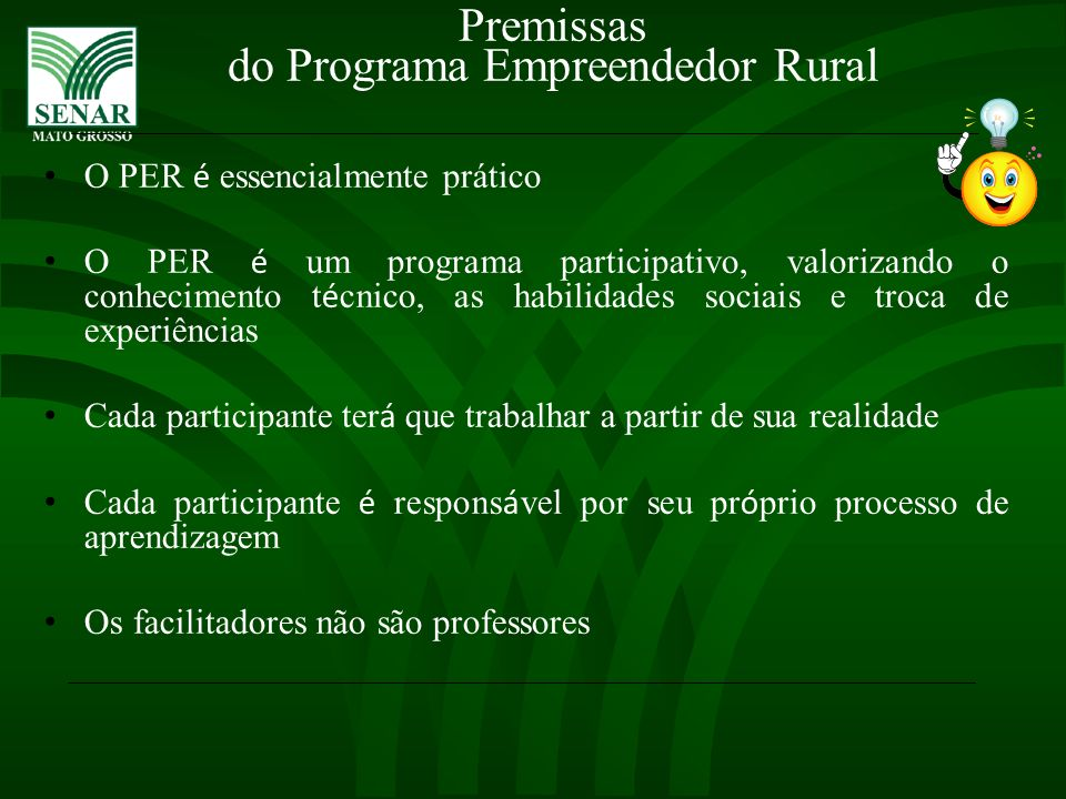 do Programa Empreendedor Rural