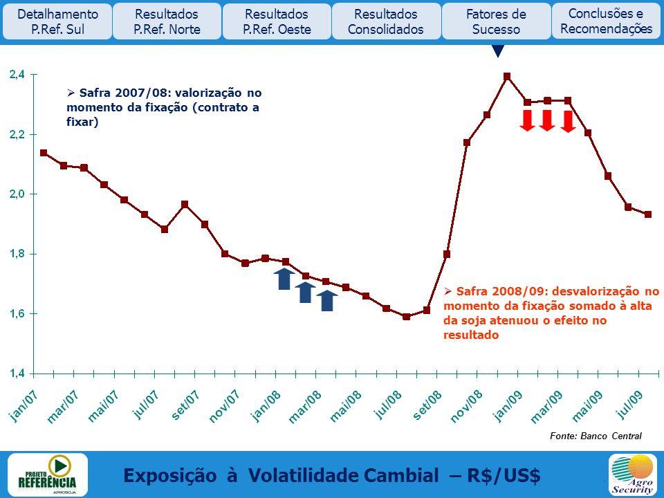 Exposição à Volatilidade Cambial – R$/US$