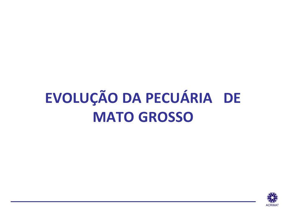 EVOLUÇÃO DA PECUÁRIA DE MATO GROSSO