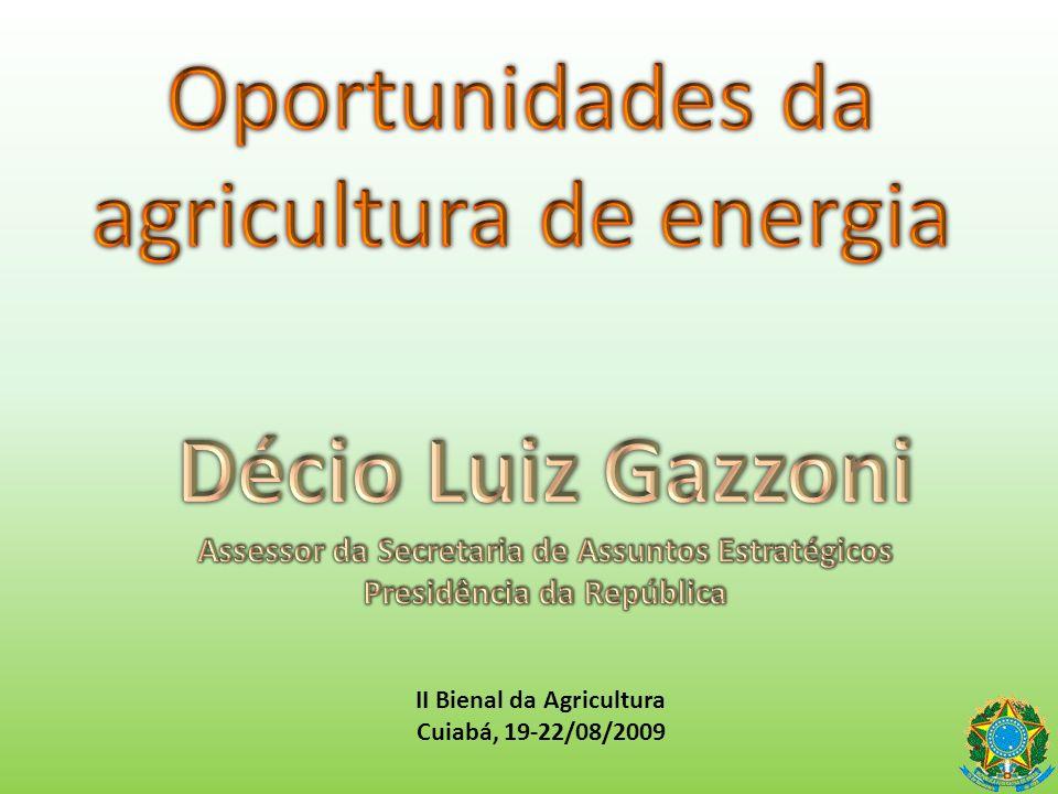 Oportunidades da agricultura de energia