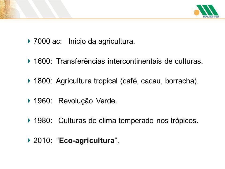 7000 ac: Inicio da agricultura.