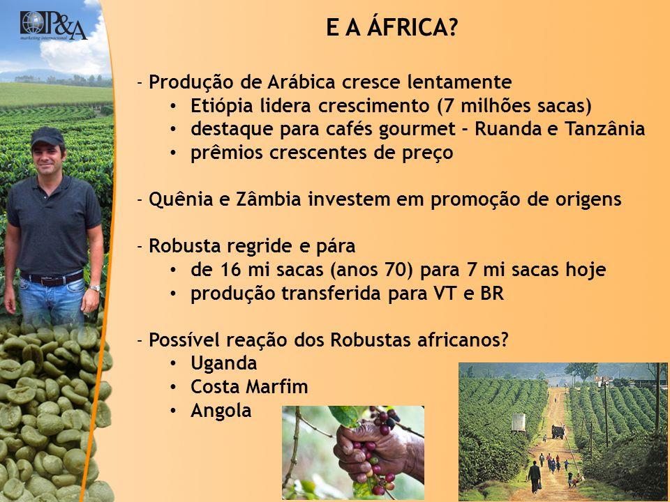 E A ÁFRICA Produção de Arábica cresce lentamente