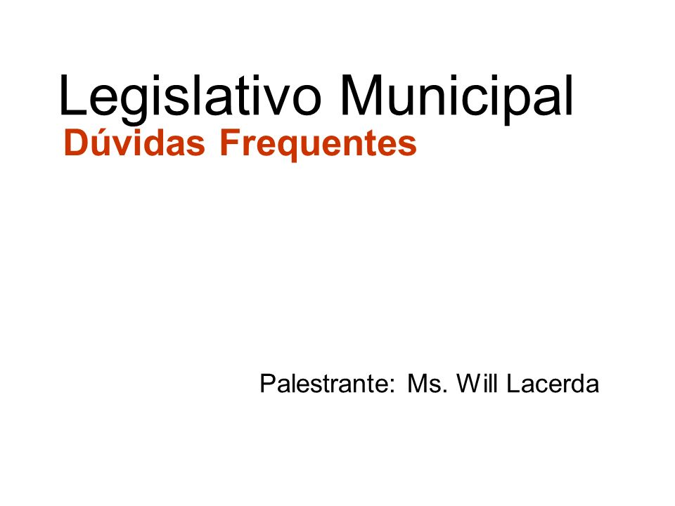 Palestrante: Ms. Will Lacerda
