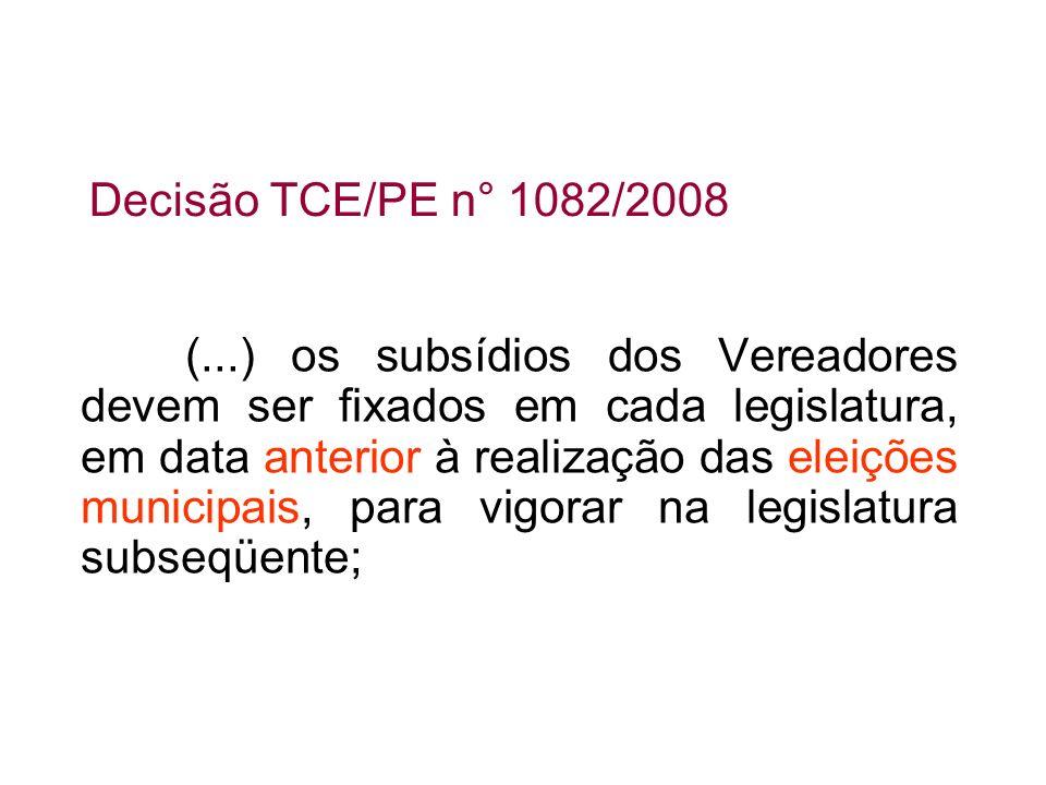 Decisão TCE/PE n° 1082/2008