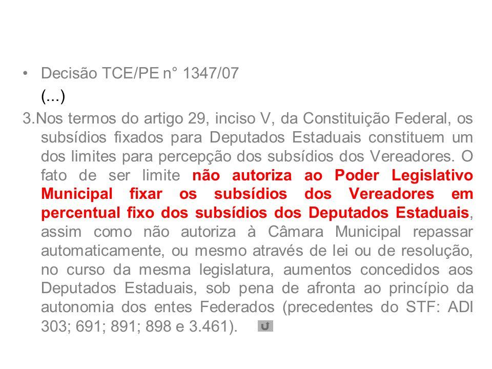 Decisão TCE/PE n° 1347/07 (...)