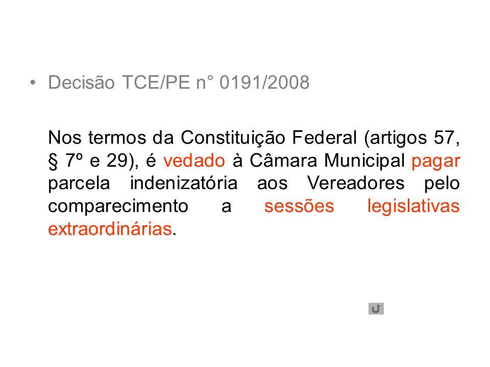 Decisão TCE/PE n° 0191/2008