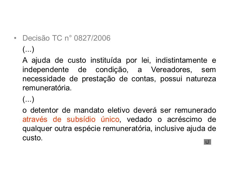 Decisão TC n° 0827/2006 (...)