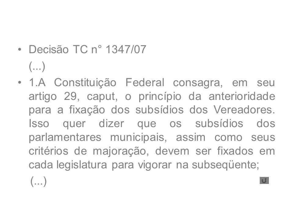 Decisão TC n° 1347/07 (...)