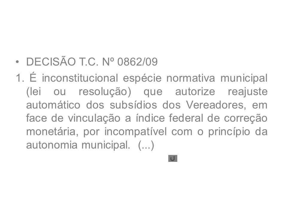 DECISÃO T.C. Nº 0862/09