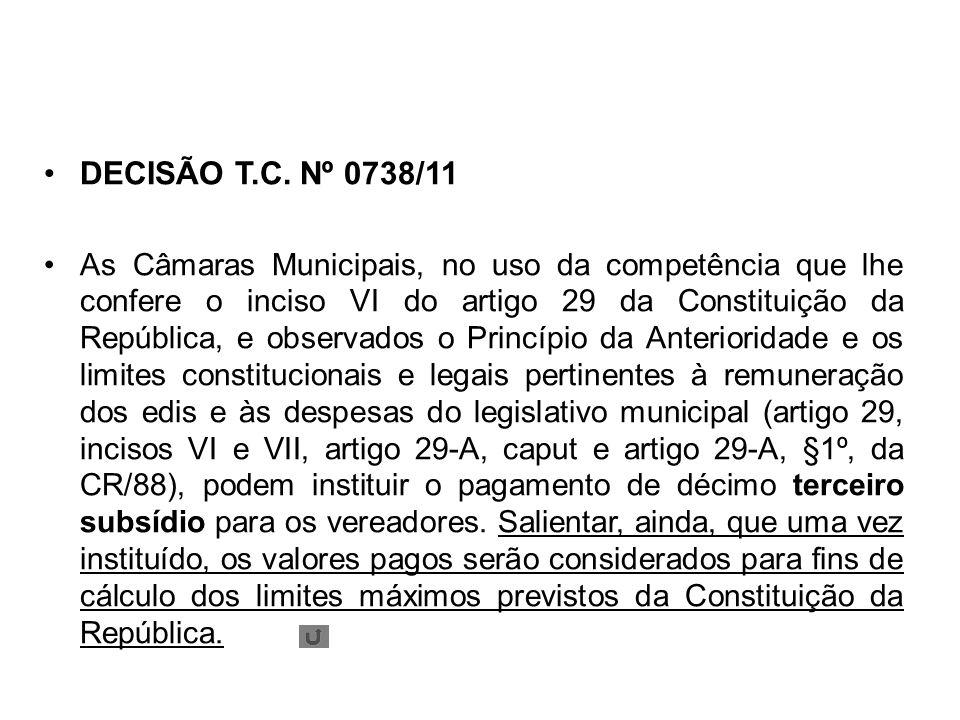 DECISÃO T.C. Nº 0738/11