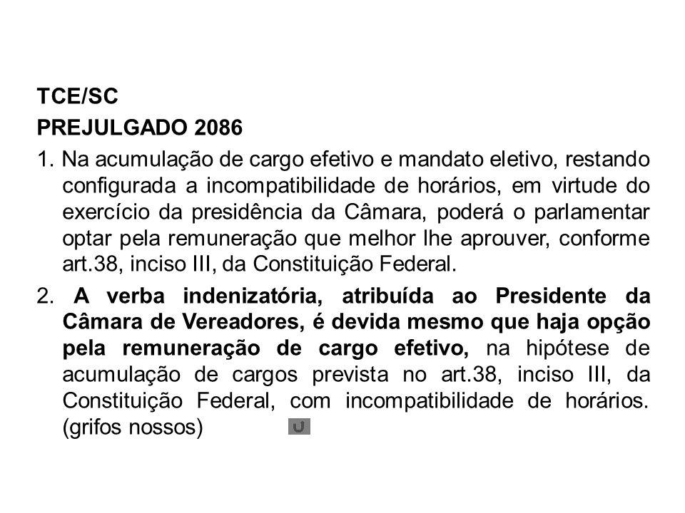 TCE/SC PREJULGADO 2086.