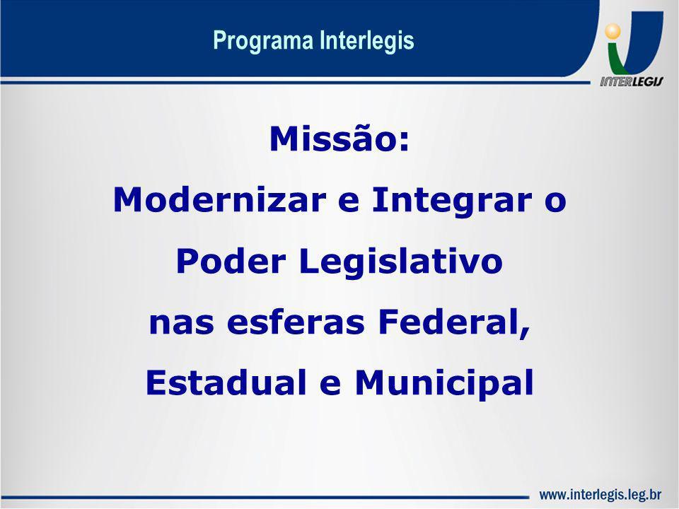 Modernizar e Integrar o nas esferas Federal, Estadual e Municipal