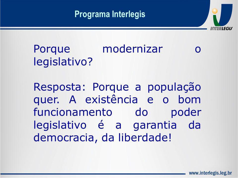Porque modernizar o legislativo