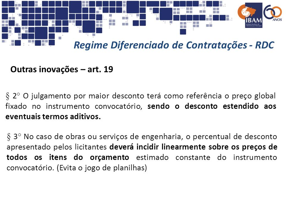 Regime Diferenciado de Contratações - RDC