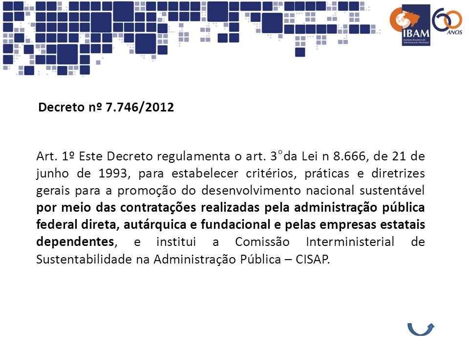 Decreto nº 7.746/2012