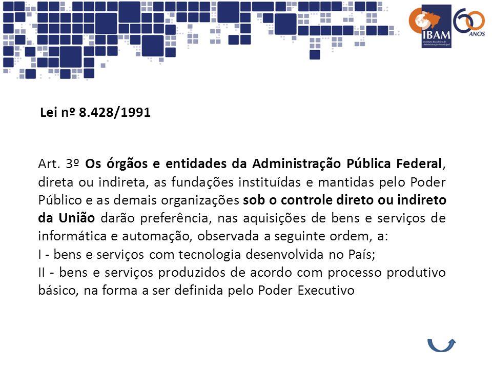 Lei nº 8.428/1991