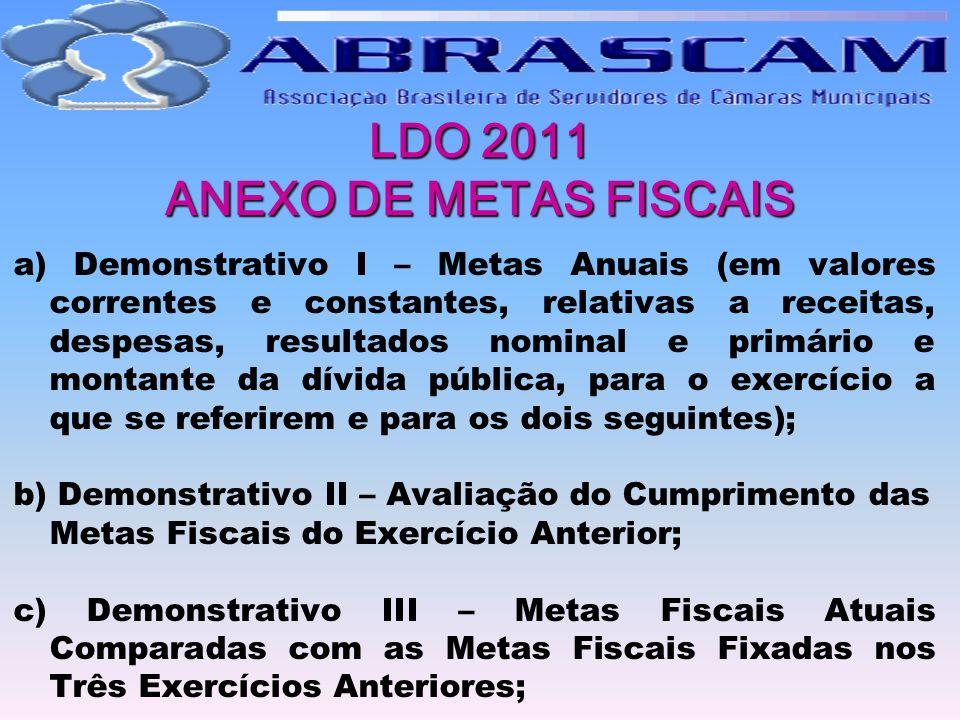 LDO 2011 ANEXO DE METAS FISCAIS