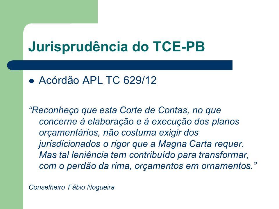 Jurisprudência do TCE-PB