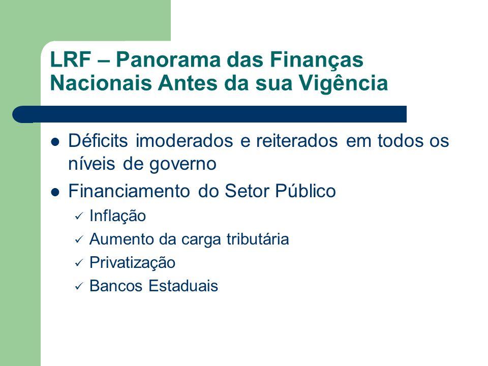 LRF – Panorama das Finanças Nacionais Antes da sua Vigência