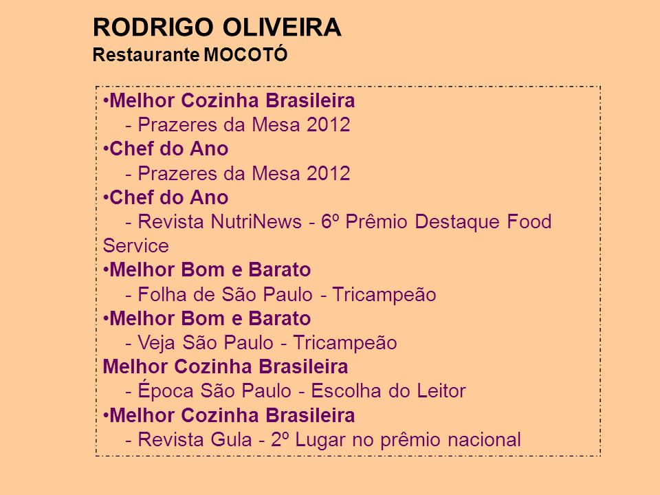 RODRIGO OLIVEIRA Melhor Cozinha Brasileira - Prazeres da Mesa 2012