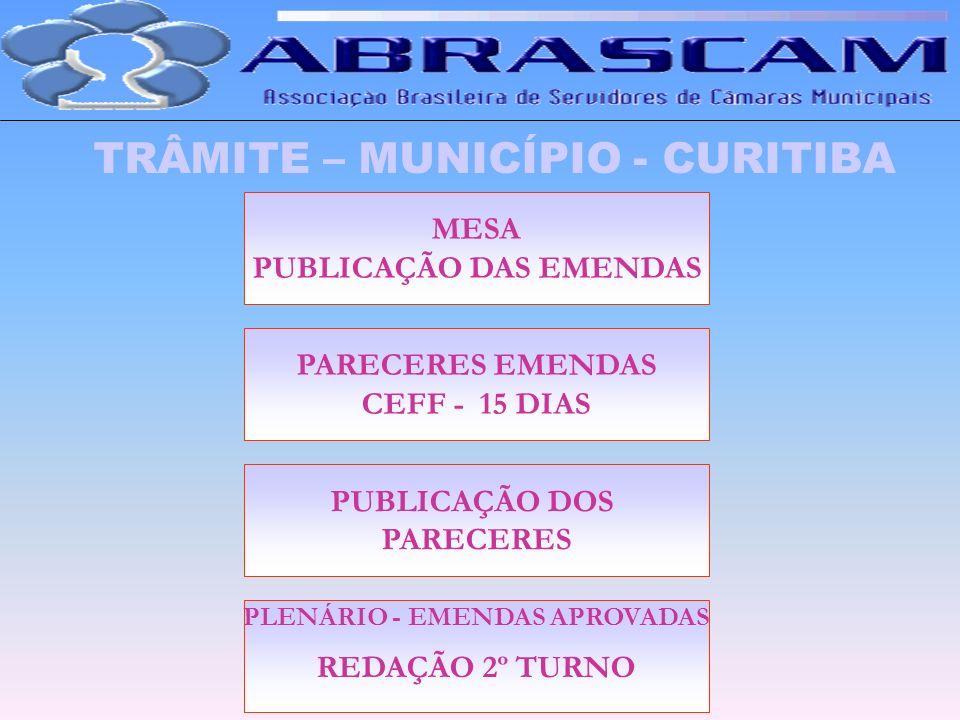 PUBLICAÇÃO DAS EMENDAS PLENÁRIO - EMENDAS APROVADAS