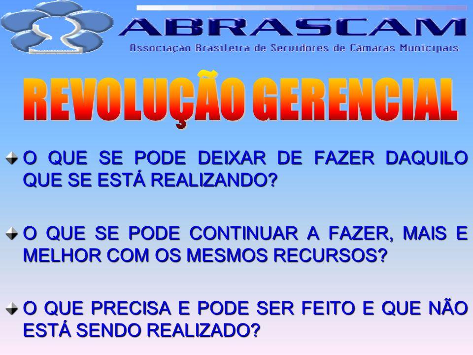 REVOLUÇÃO GERENCIAL O QUE SE PODE DEIXAR DE FAZER DAQUILO QUE SE ESTÁ REALIZANDO