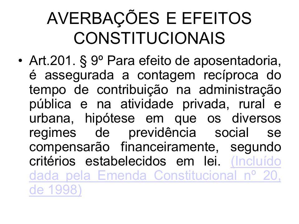 AVERBAÇÕES E EFEITOS CONSTITUCIONAIS
