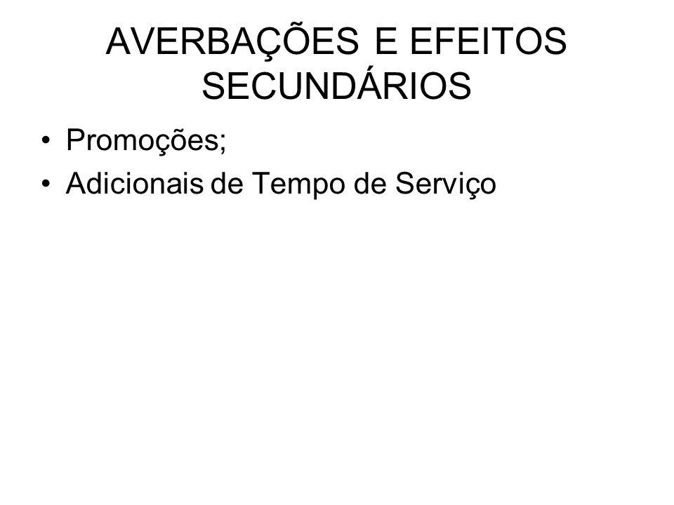 AVERBAÇÕES E EFEITOS SECUNDÁRIOS