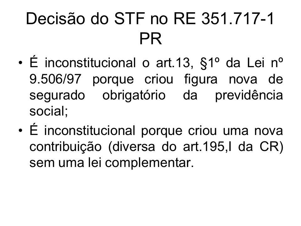 Decisão do STF no RE 351.717-1 PR