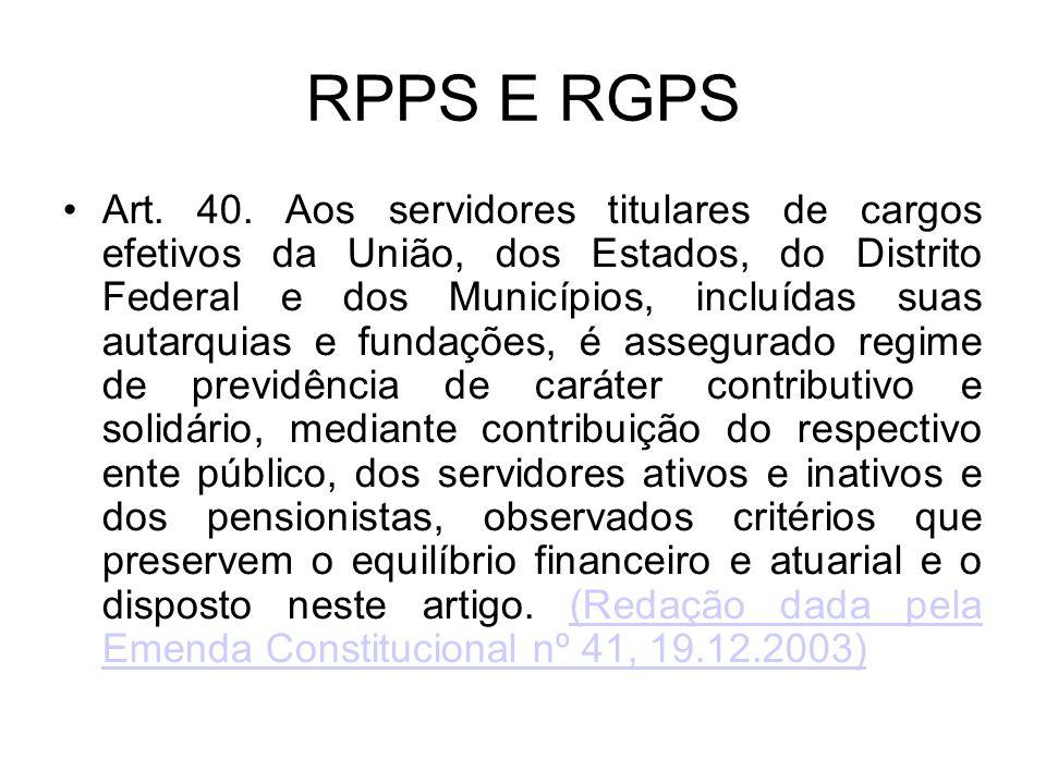 RPPS E RGPS