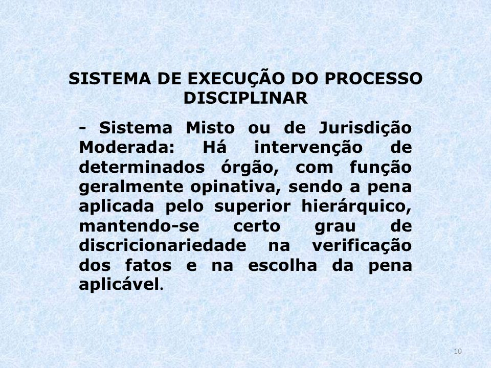 SISTEMA DE EXECUÇÃO DO PROCESSO DISCIPLINAR