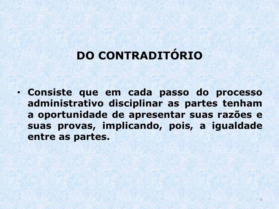DO CONTRADITÓRIO
