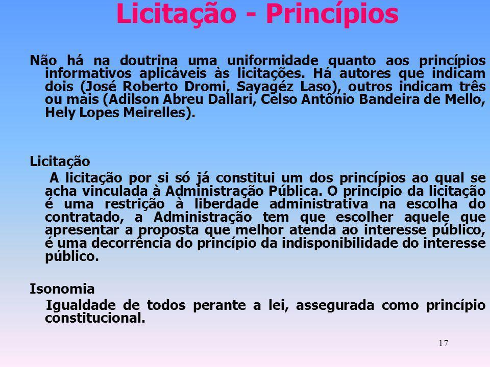 Licitação - Princípios