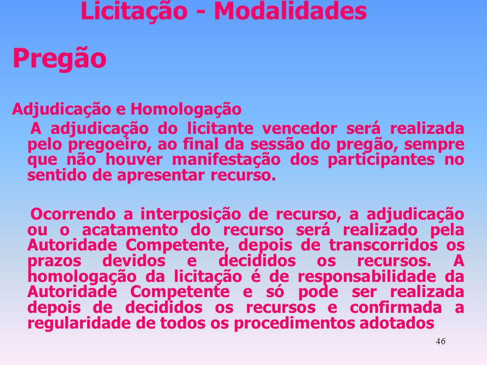 Licitação - Modalidades