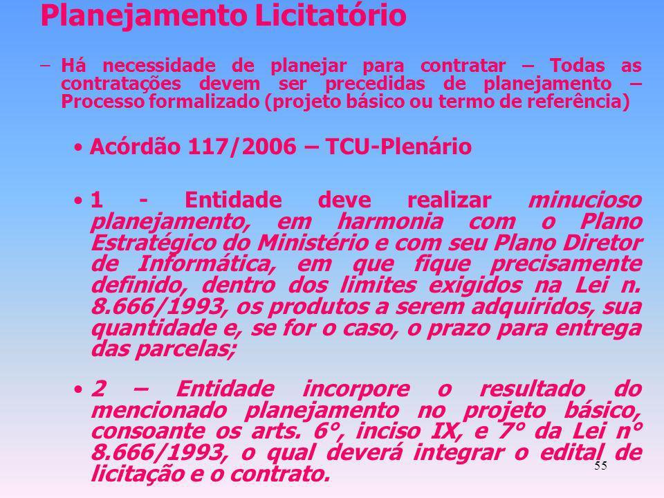 Planejamento Licitatório