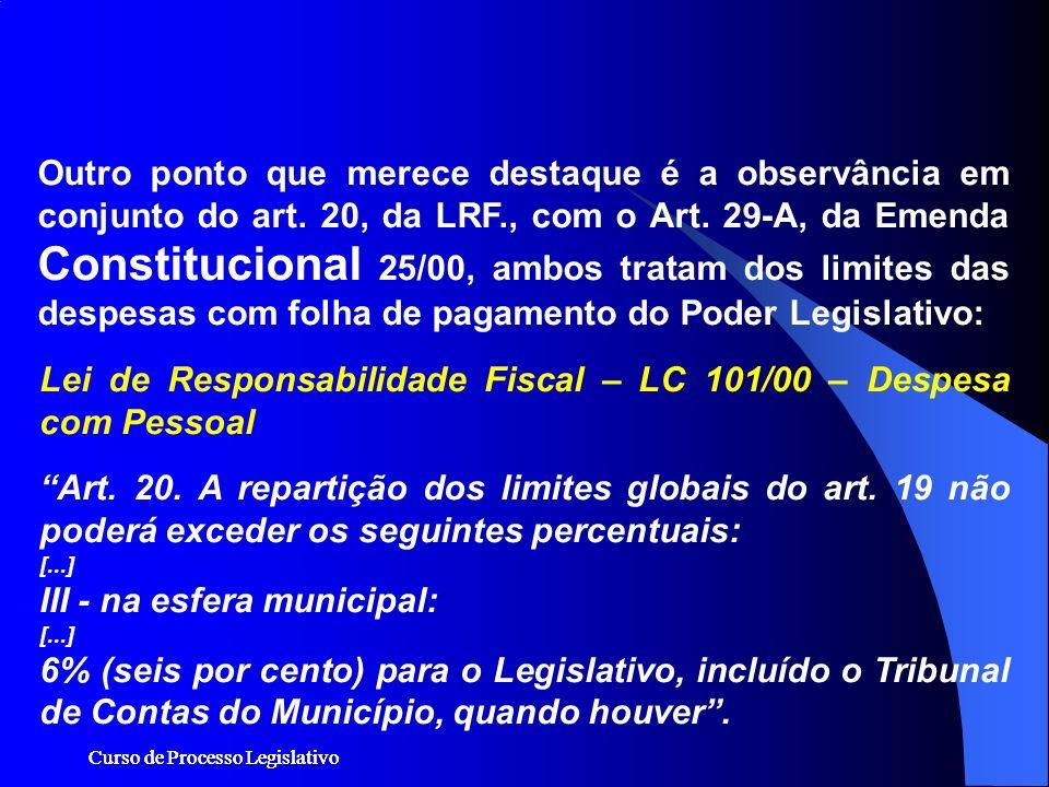 Lei de Responsabilidade Fiscal – LC 101/00 – Despesa com Pessoal