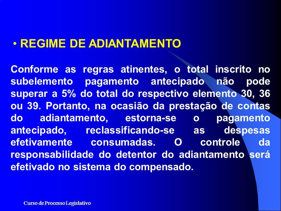 REGIME DE ADIANTAMENTO