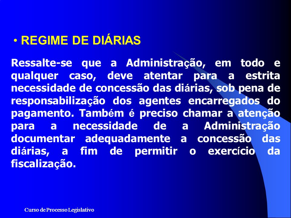 REGIME DE DIÁRIAS