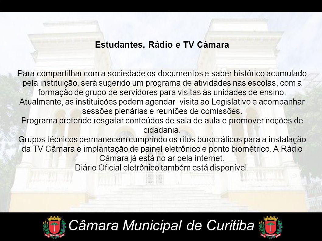 Estudantes, Rádio e TV Câmara
