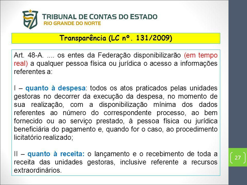 Transparência (LC nº. 131/2009)
