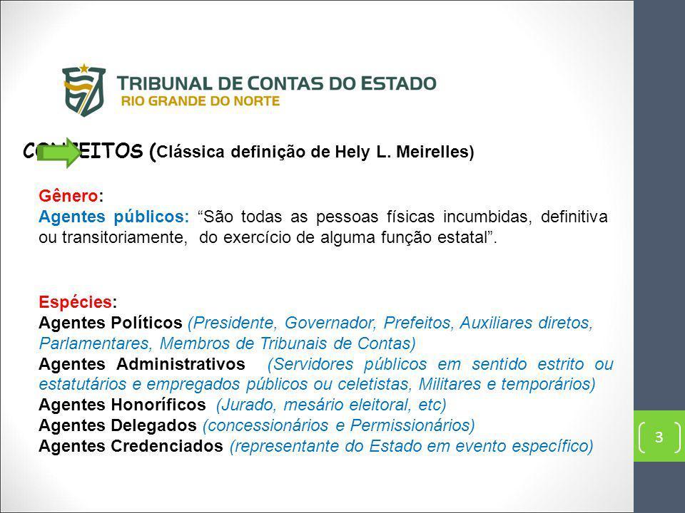 CONCEITOS (Clássica definição de Hely L. Meirelles)