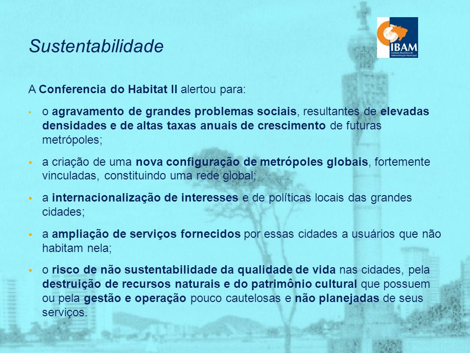 Sustentabilidade Ambiental Urbana