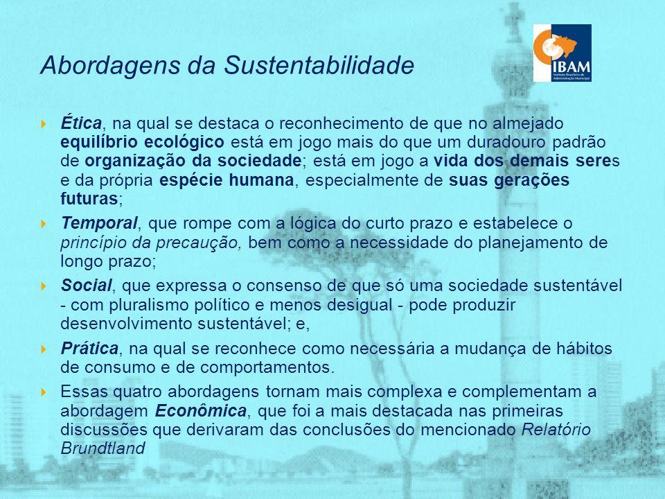 Abordagens da Sustentabilidade
