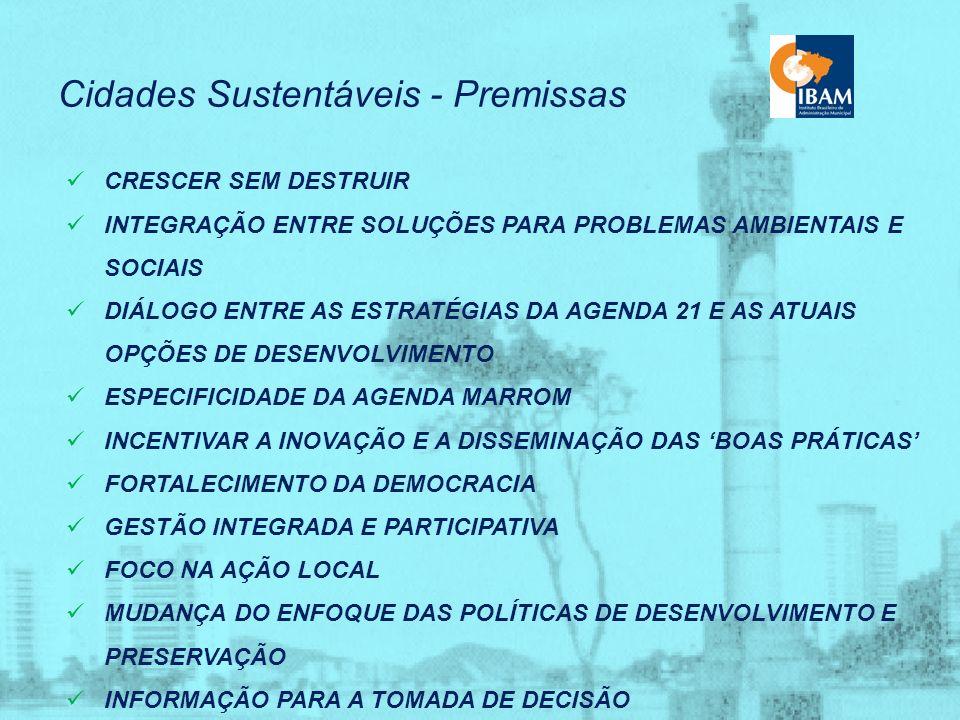 Cidades Sustentáveis - Premissas