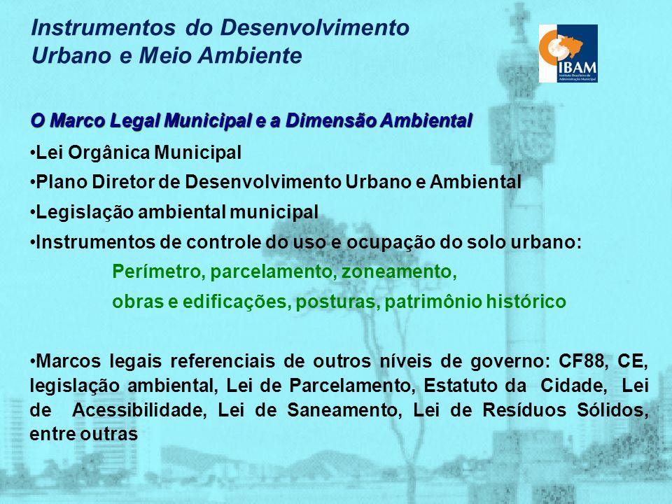 Instrumentos do Desenvolvimento Urbano e Meio Ambiente