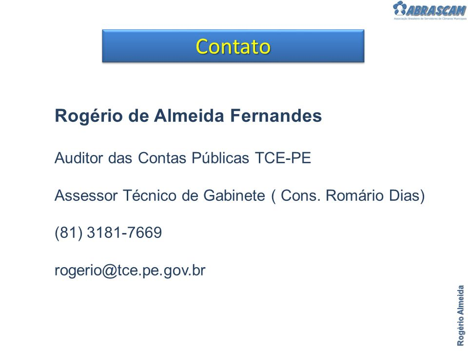 Contato Rogério de Almeida Fernandes